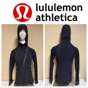 Lululemon Black Hood Jacket With cold Hands sz6